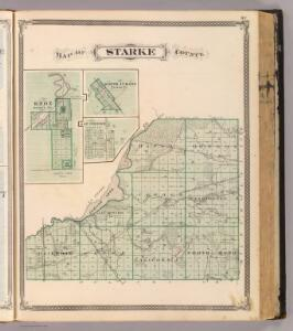 Map of Starke County (with) Knox, North Judson, San Pierre.