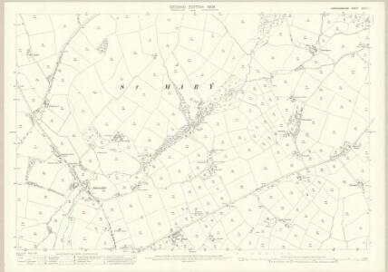 Cardiganshire XXXVIII.1 (includes: Cardigan; Llangoedmor) - 25 Inch Map