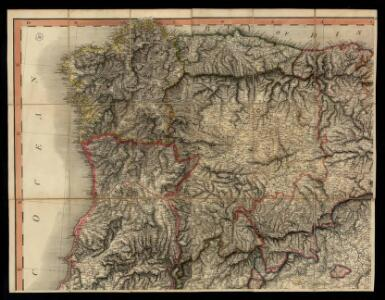 A new Military Map of Spain and Portugal compiled from The Nautical Surveys of Don Vincent Tofiño, the new Provincial maps of Don Tomas Lopez, the large map of the Ptrenees by Roussill, and various original documents