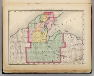Upper Peninsula, scale six miles to an inch (Houghton County)