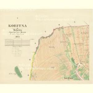 Koritna - m1278-1-001 - Kaiserpflichtexemplar der Landkarten des stabilen Katasters