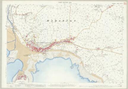 Cornwall LXXIV.4 (includes: Ludgvan; Marazion; Perranuthnoe; St Hilary; St Michaels Mount) - 25 Inch Map