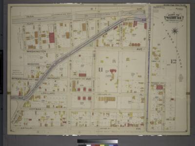 Double Page Plate No. 22, Part of Ward 24, Section 11. [Bounded by Park (Vanderbilt West) Avenue, Pelham Avenue, Arthur Avenue, Belmont Place, Third Avenue and 184th Street.]