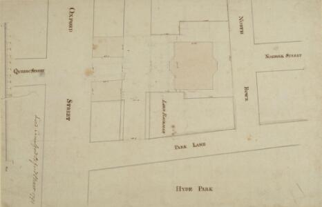 Drawn Plan of of the Site of Camelford House