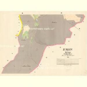 Zuklin - c9298-1-002 - Kaiserpflichtexemplar der Landkarten des stabilen Katasters