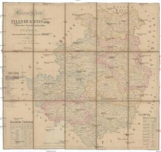 Special-Karte des Pilsner Kreis - resp. politischen Verwaltungsbezirkes im Boehmen