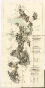 Mapa porostů hlavního komplexu Třeboňského polesí náležejících revírů Kolenec, Mláka, Zámecký revír, Sv. Barbora, Cep a Hrdlořez, pro exkursi České lesnické jednoty v roce 1909 1