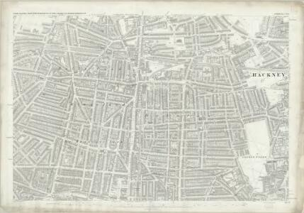 London (First Editions c1850s) XVIII (includes: Hackney; Islington; Shoreditch; Stoke Newington) - 25 Inch Map