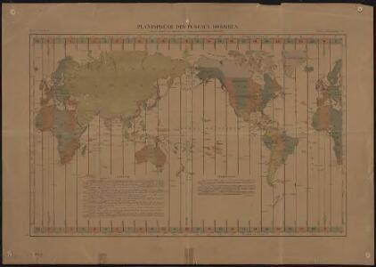 Planisphère des fuseaux horaires