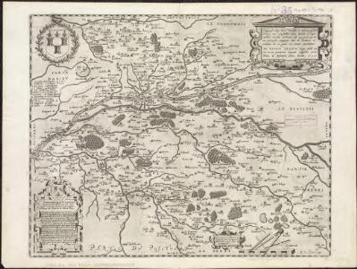 Topographia aug. Turon. ducatus et confinium Galliae celticae sinu complectitur cuius latitudo ab aequinoctiali versus arcticum... extenditur