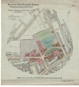 Bellevue town planning scheme. No. 3. Plan of Ground and Buildings as Existing.