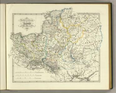 Volker und Reiche der Slaven zwischen Elbe und Don bis 1125.