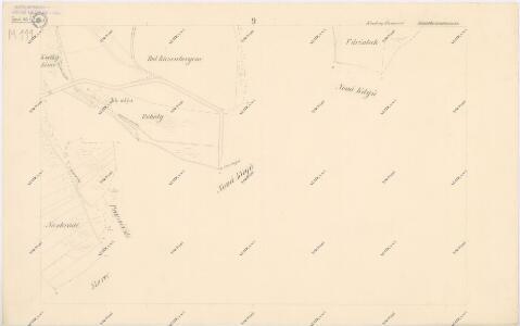 Katastrální mapa obce Kout