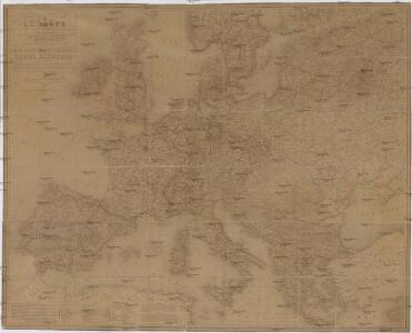Carte genérale et itineraire de l'Europe
