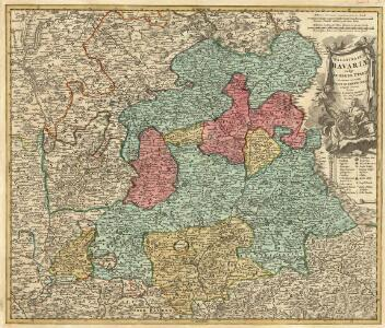 Palatinatus Bavariae vulgo Die Obere Pfaltz in omnes ejusdem Status et Praefecturas accuratà divisus