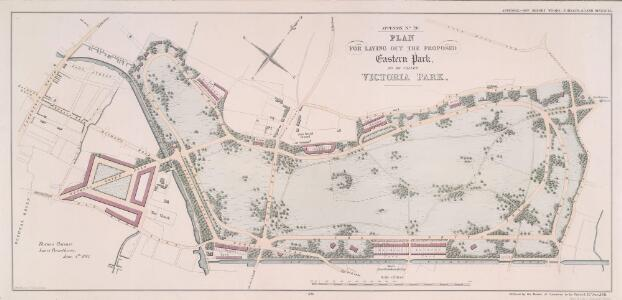 PLAN FOR LAYING OUT THE PROPOSED Eastern Park TO BE CALLED VICTORIA PARK