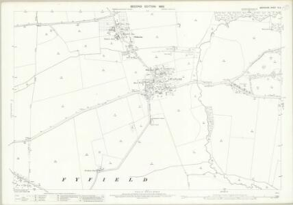 Berkshire IX.3 (includes: Appleton with Eaton; Frilford; Fyfield; Kingston Bagpuize; Tubney) - 25 Inch Map