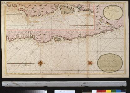 Een gedeelte van de cust van Brazilia tussen Punto de Lucena en Cabo St. Augustino int groot