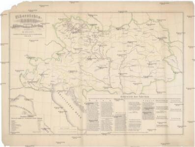 Uibersichts-Karte der österreichischen Rübenzucker-Fabriken