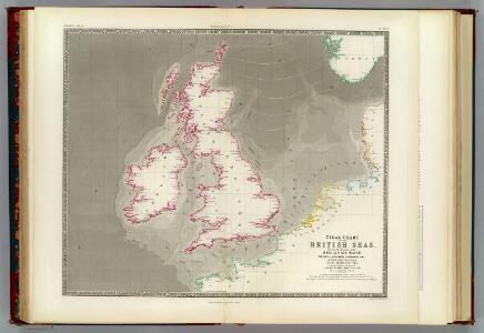 Tidal chart British Seas.