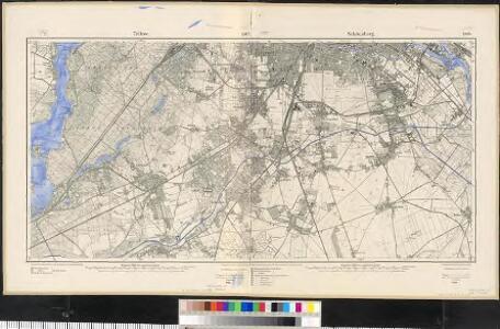Meßtischblatt 1907/1908 (Doppelblatt) : Teltow/Schöneberg, 1919