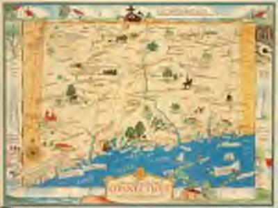 Historical map of the state of Connecticut / designed by Leon L. des Rosiers.