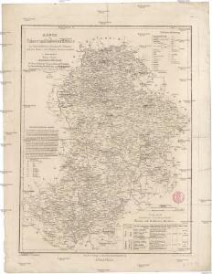 Karte des Taborer und Budweiser Kreises im österreichischen Kronlande Böhmen