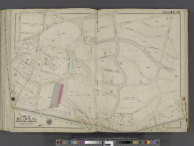 Bronx, V. 2, Double Page Plate No. 38 [Map bounded by Riverdale Ave., W. 252nd St., Van Cortlandt Park, W. 236th St.] / by George W. and Walter S. Bromley.