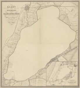 Kaart van de droogmaking van het Haarlemmer Meer en van de daaraan grenzende polders en gemeenten