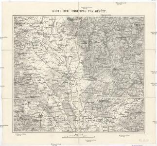 Karte der Umgebung von Olmütz