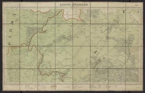 Carte de l'Indochine au 1:500 000. Feuille N4, Luang-Prabang