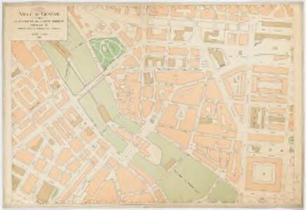 Ville de Genève : Plan partiel de la rive droit