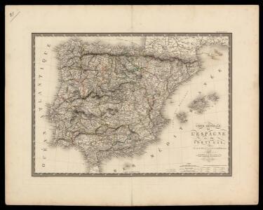 Carte générale de l'Espagne et du Portugal / par A.H. Brué