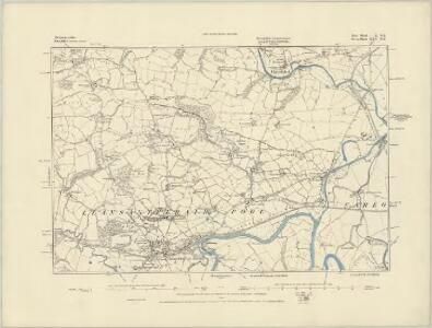 Merionethshire XVII.NW - OS Six-Inch Map