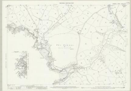 Cornwall LXXX.10 & 9 (includes: Cury; Gunwalloe; Mullion) - 25 Inch Map