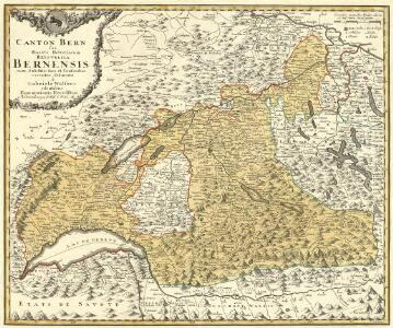 Canton Bern sive Illustris Helvetiorum Respvblica Bernensis cum Subditis suis et Confinibus recenter delineata