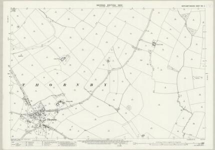 Northamptonshire XXX.2 (includes: Cold Ashby; Guilsborough; Naseby; Thonby) - 25 Inch Map