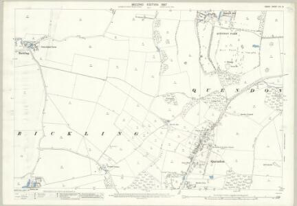 Essex (1st Ed/Rev 1862-96) XIII.8 (includes: Quendon and Rickling) - 25 Inch Map