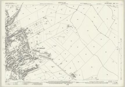 Northamptonshire XL.10 (includes: Higham Ferrers; Rushden) - 25 Inch Map
