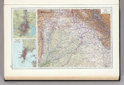 Punjab World Map.136 Punjab Calcutta Bombay The World Atlas