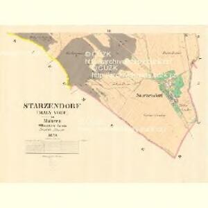 Starzendorf (Maly Vgec) - m3541-1-002 - Kaiserpflichtexemplar der Landkarten des stabilen Katasters