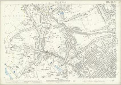 London (Edition of 1894-96) XIX (includes: Hornsey St Mary; Islington; St Pancras) - 25 Inch Map