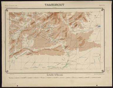 Carte générale du Maroc à l'échelle de 1 : 500 000 e. Tamegrout