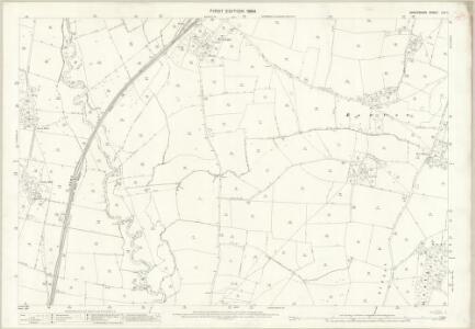 Shropshire LXX.11 (includes: Clunbury; Clungunford; Hopesay; Stokesay) - 25 Inch Map