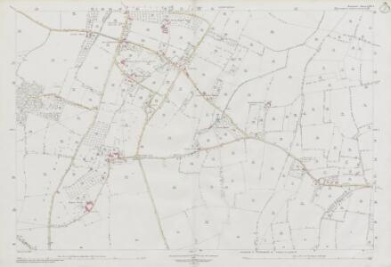 Somerset LXIII.8 (includes: Barton St David; Butleigh; Kingweston) - 25 Inch Map