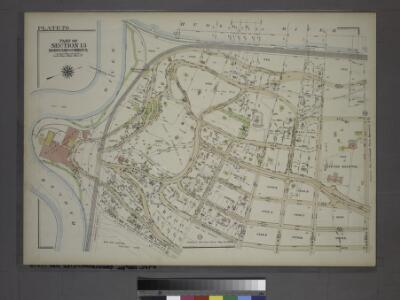 Plate 76, Part of Section 13, Borough of the Bronx. [Bounded by Spuyten Duyvil Road, W. 235th Street, Netherland Avenue, Kappock Street, W. Johnson Road and Broadway.]