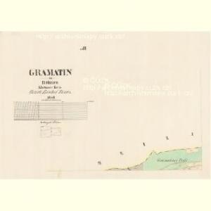 Gramatin - c7301-1-003 - Kaiserpflichtexemplar der Landkarten des stabilen Katasters