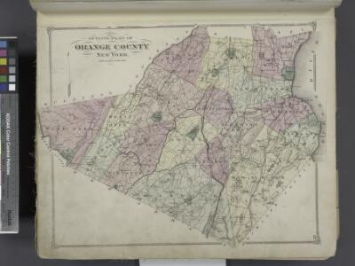 Outline Plan of Orange County New York.