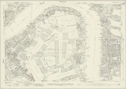 London (1915- Numbered sheets) V.16 (includes: Bermondsey; Poplar Borough) - 25 Inch Map