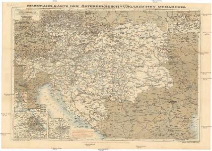 Eisenbahn-Routen-Karte von Mittel-Europa